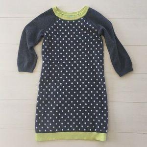 BabyGap Grey polka dot sweater dress
